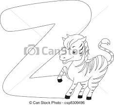 clip art vector coloring zebra coloring