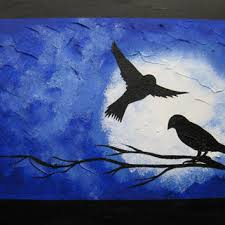 blue and white painting best paintings of trees at night products on wanelo