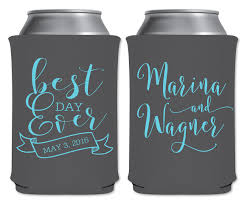 koozie wedding favor best day 2a collapsible custom coolers wedding favors