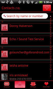 go contacts ex apk go contacts black theme free of android version