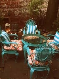 Turquoise Patio Furniture Orange Patio Furniture Sets Foter