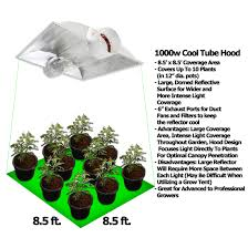 1000 watt 1000w hps cool tube hood grow light kit hydroponic
