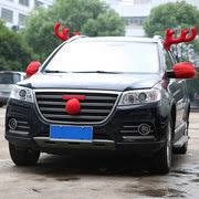 reindeer antlers for car hot sale christmas car truck vehicle costume reindeer