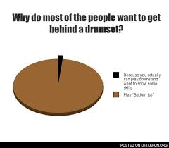 Drummer Meme - littlefun why do most of the people want to get behind a drumset