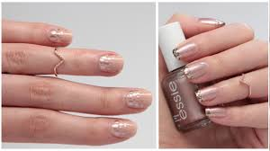 nail art rose gold simple rapide et chic youtube