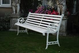 edwardian cast iron garden bench in garden furniture urns