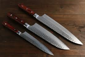 japanese kitchen knives set sakai takayuki 33 layer gyuto santoku and petty japanese kitchen