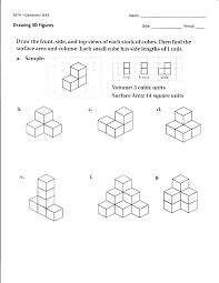 Surface Area And Volume Worksheets Grade 7 Worksheets Mrs Lay U0027s Webpage 2011 12