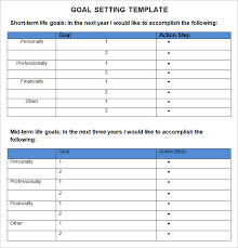 goal planning template goal setting template 12 download free