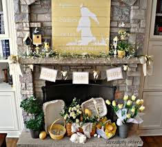 easter mantel decorations 33 best easter fireplace decor images on easter
