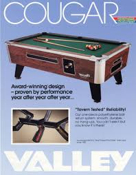 Valley Pool Tables by The Arcade Flyer Archive Arcade Game Flyers Cougar Zd5 Pool