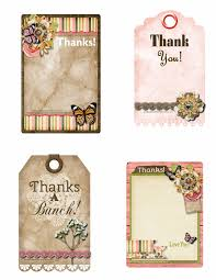 thank you tags printable thank you tags pink polka dot creations