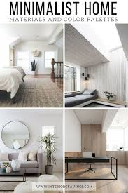 minimalist home essentials materials and color palette interior