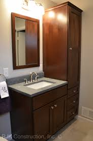 Bathroom Vanity With Side Cabinet Fancy Bathroom Vanity With Side Cabinet 56 Home Decorating Ideas