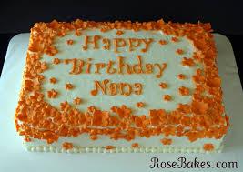 orange flowers birthday cake rose bakes