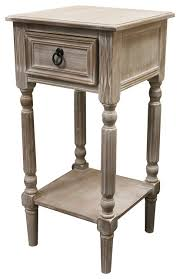 ella weathered wood nightstand rustic nightstands and bedside