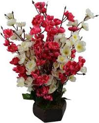 artificial flower hyperbole white assorted artificial flower with pot price in