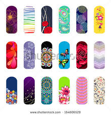 set nail art designs beauty salon stock vector 164606528
