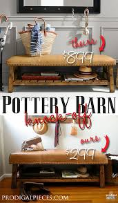 Pottery Barn Leather Pottery Barn Knock Off Caden Bench Prodigal Pieces