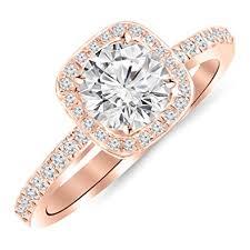 1 carat halo engagement ring 1 carat 14k white gold classic halo style cushion shape