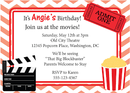 lovely movie night party invitation ideas on inexpensive article