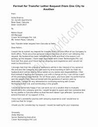 format of request letter to company sle format for transfer letter request from one place to another