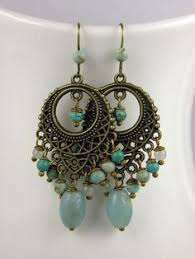 Nakamol Czech Crystal Beaded Chandelier Long Colorful Beaded Chandelier Earrings Silver Gold Or By Kerala