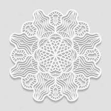 decorative flower lacy paper doily decorative flower decorative snowflake mandala