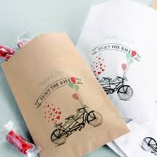 wedding treat bags 50 pc enjoy the ride personalized 5 x 7 treat bags