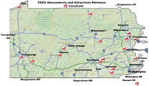 map us parks pa amusement parks association welcome to papa