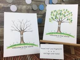 tree signing for wedding thumbprint tree guestbook wedding sign in tree fingerprint