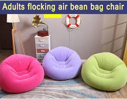 flock pvc soft and comfort bean bag chair inflatable air office