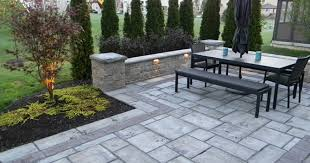Paver Patio Landscaping Adds Privacy To Custom Paver Patio Landscaping