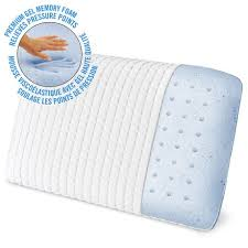 cool bed pillows homedics triple cool gel memory foam bed pillow walmart canada