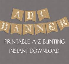 printable alphabet bunting banner rustic banner burlap effect printable alphabet and numbers pixels