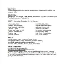 Corporate Paralegal Resume Sample Sample Paralegal Resume 11 Download Free Documents In Pdf Word