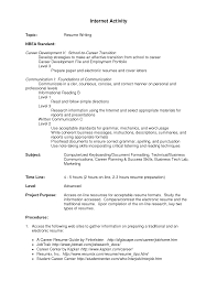 Best Resume Guide 2017 by Activities Resume Template