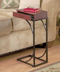 Chair Side Tables With Storage Sofa Or Chair Side Table With Drawer Storage Drink Holder Tv