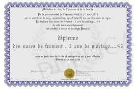 27 ans de mariage diplome des noces de froment 3 ans de mariage 3