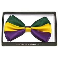 mardi gras bow tie men s women s tuxedo party bow tie mardi gras green yellow purple