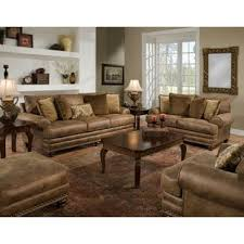 leather livingroom set rustic leather living room sets you ll wayfair