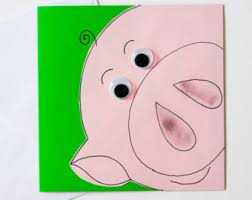 pig birthday card etsy
