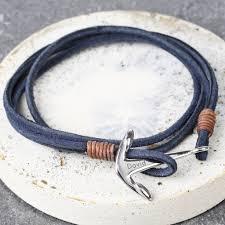 leather wrap bracelet with anchor images Men 39 s grey cord wrap bracelet with anchor clasp charm by lisa jpg