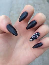 55 most stylish matte stiletto nail art designs