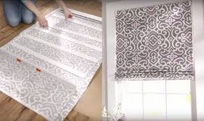 How To Make Material Blinds How To Turn Mini Blinds Into Pretty Roman Shades Home Design