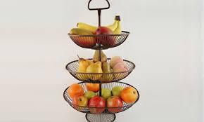 tiered fruit basket three tier wire fruit basket groupon goods