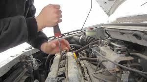 how to change plugs 2005 suzuki aerio youtube