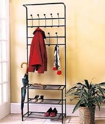 Coat Rack With Bench Seat Metal Entryway Storage Coat Rack Shelf Shoe Organizer Wood Bench