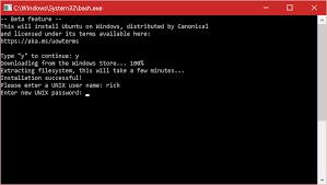 manually update windows install the linux subsystem on windows 10