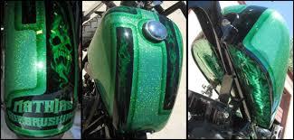 mathias airbrushing the best custom motorcycle painting in texas